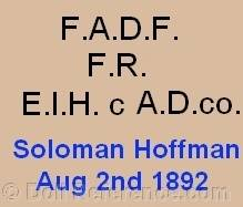 Aetna doll marks F.A.D.F., F.R., EIH c A.D. Co., Soloman Hoffman, Aug. 2nd, 1892