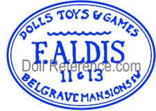 Frederic Aldis wax doll mark Aldis doll mark Dolls, Toys & Games 11 & 13 elgrave Mansions