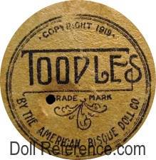 American Bisque Doll Company doll mark Toodles 1919