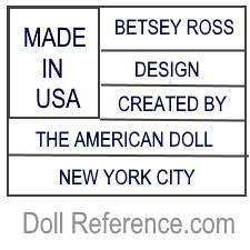 Made In Usa Betsey Ross Design Created By The American Doll New York City Mark