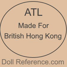 ATL Made in British Hong Kong doll mark