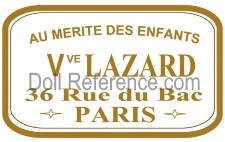 Au Mérite des Enfants Vve. Lazard. 36 Rue du Bac, Paris mark label