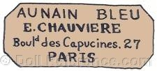 Au Nain Bleu, doll mark E. Chauvi�re Bould. des Capucines 27 Paris