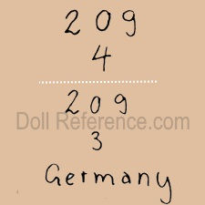 Bahr & Proschild doll mark 209 Germany
