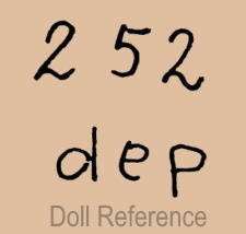 Bahr & Pröschild doll mark 252 dep
