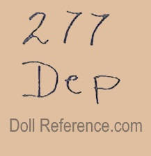 Bahr & Pröschild doll mark 277 Dep