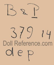 Bahr & Pröschild doll mark 379 dep