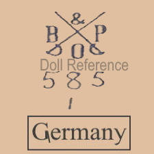 Bahr & Pröschild doll mark B & P two crossed swords 585 Germany