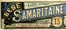 Bebe Samaritaine doll box label French