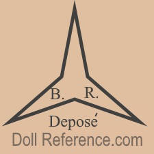 Benoit Fils et Romain doll mark three pointed star BR