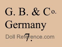 George Borgfeldt doll mark G.B. & Co Germany