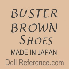 Buster Brown doll shoes mark Japan