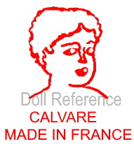 Calvare doll mark ladies head, Calvare Made in France