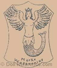 Celba doll mark winged mermaid symbol