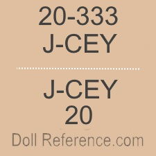 J. Cey Doll Company, Inc. doll mark J-CEY 20-333, 20
