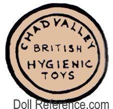Chad Valley doll mark label British Hygienic Toys