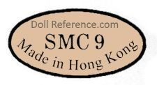 SMC Made in Hong Kong doll mark - China unknown