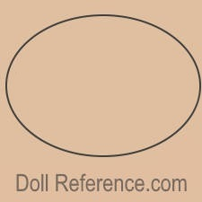 Circle blank doll mark USA, several makers