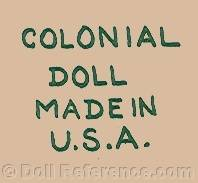 Colonial Doll Made in USA doll mark