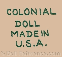 Colonial Toy Company doll mark Colonial Doll Made in USA