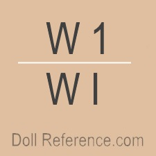 Commonwealth Corporation doll mark W 1, WI