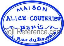 Alice Couterier doll mark label 3 Rue du Dauphin - Aux enfants de France store