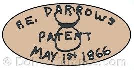 Darrow doll mark patent May 1st, 1866