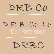 Dean's Rag Book doll mark DRB Co, D.R.B. Co. Lo., DRBC