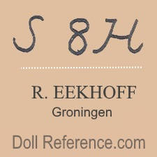 R. Eekhoff doll mark S8H Simon & Halbig