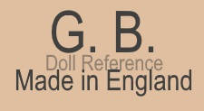 G. B Made in England doll mark, unknown