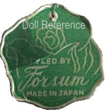 Styled by Forsum Made in Japan green doll tag