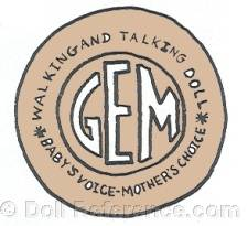 Gem doll mark label