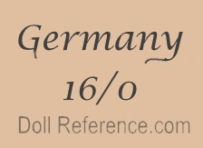 German doll mark Germany 16/0