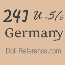 German doll mark 241 U - 5/0 Germany