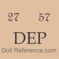 German doll mark 27  57 DEP