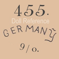 German doll mark 455 Germany 9/0