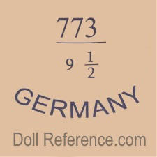 German doll mark 773 9 1/2 Germany