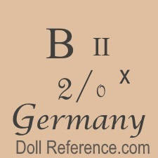 German doll mark B II 2/0 x Germany
