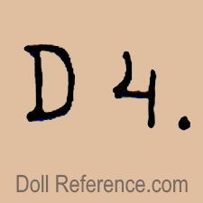 German doll mark D 4.