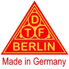 German doll mark DTF Berlin Made in Germany red & gold label (on a Lilli Baitz like shoulder head)