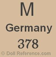 German doll mark M Germany 378