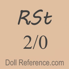 German doll mark RST 2/0