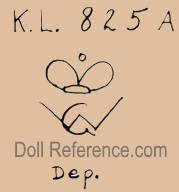 William Goebel doll mark K.L. 825A crown symbol WG Dep.