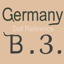William Goebel doll mark Germany B3
