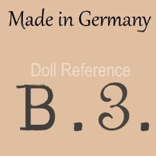 William Goebel doll mark Made in Germany B3