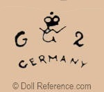 William Goebel doll mark crown symbol WG G 2 Germany