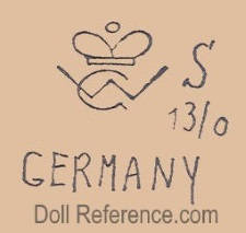 William Goebel doll mark crown symbol WG S 13/0 Germany
