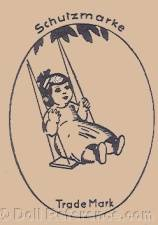 Max Gohring doll mark girl on a swing