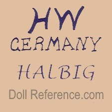 Heinrich Handwerck doll mark HW Germany Halbig