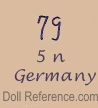Heinrich Handwerck doll mark 79 N Germany
